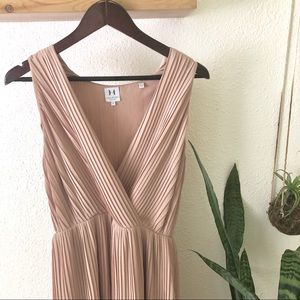 Halston Nude colored beautiful dress